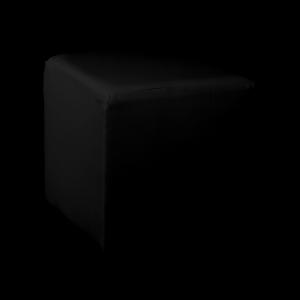Square Cube Ottoman - Black