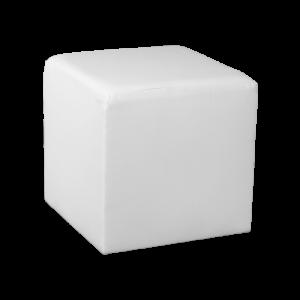 Square Cube Ottoman - White