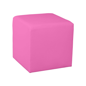 Square Cube Ottoman - Pink