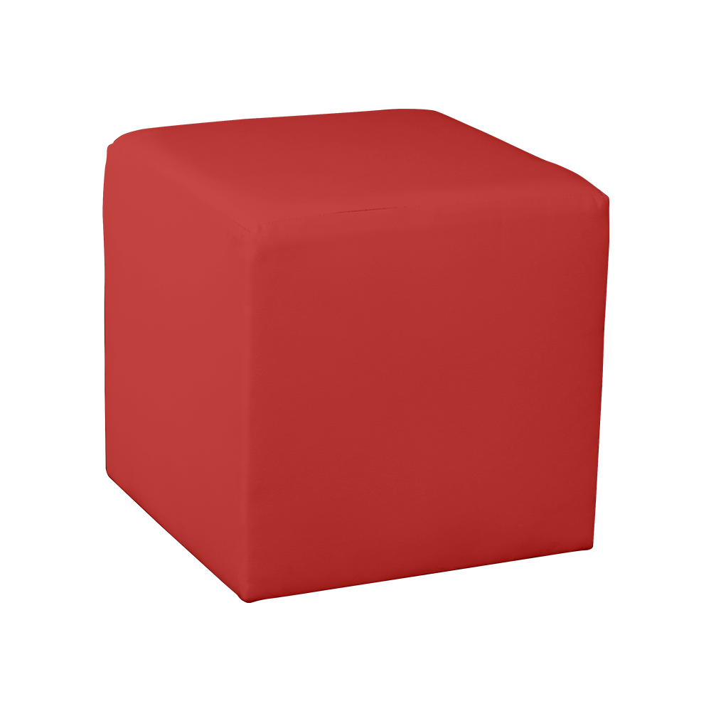 Square Cube Ottoman - Red