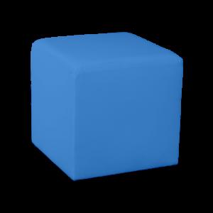 Square Cube Ottoman - Blue